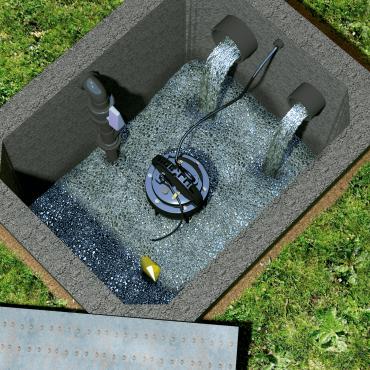 bomba sumersível SANIPUMP - entorno