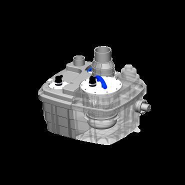 estação bombagem SANICUBIC 1 VX - semitransparente